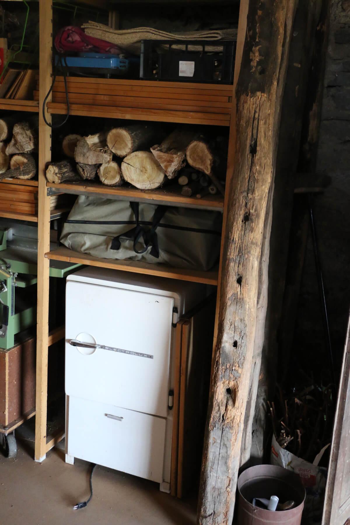 Kühlschrank und Kajak